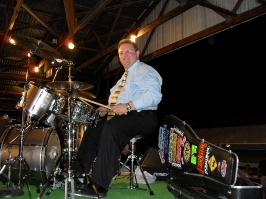Randy drumming w/Dixie Melody Boys